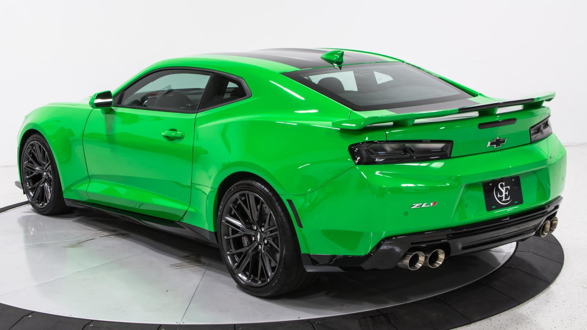 2017 Chevrolet Camaro Zl1 Krypton Green Stock 22644 For