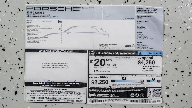 Used 2019 Porsche Cayenne S PREMIUM PLUS | Pompano Beach, FL