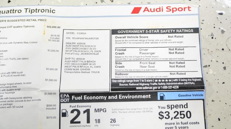Used 2018 Audi RS 5 2.9T quattro | Pompano Beach, FL
